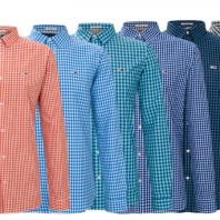 NEU! TOMMY JEANS SLIMFIT SHIRT CHECKERED MUSTER