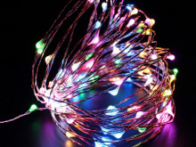 WEIHNACHTSBAUM-LAMPEN 100LED MICRO WIRE MULTI BATTERY