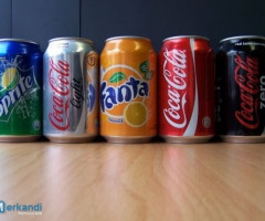 Coca Cola, Fanta,CC light 33cl Dosen deutsch mit Pfand-AT ohne Pfan