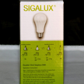 LED HIGH POWER DOUBLE CLICK LAMPE Sigalux A60 3385 10.2W LEUCHTE